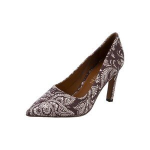 Zimmermann Paisley Pointed Toe Canvas Pumps